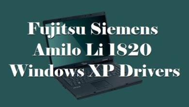 Photo of Fujitsu Siemens Amilo Li 1820 Windows XP Drivers